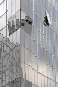 Modern Skyscraper Window Reflections Royalty Free Stock Photos