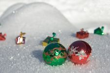 Free Present In The Snow Stock Photo - 4514050