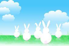 Free Easter Cartoon Bunnies Stock Image - 4514051