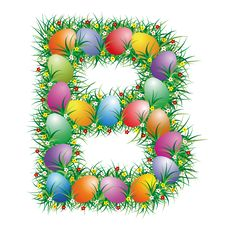 Free Easter Letter B Royalty Free Stock Photo - 4514925