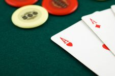 Free Aces And Chips Royalty Free Stock Image - 4515106