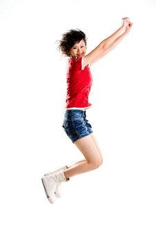 Free Happy Jumping Girl Stock Photo - 4515640