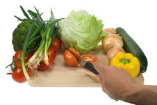 Free Cutting Vegetables Royalty Free Stock Images - 4515919