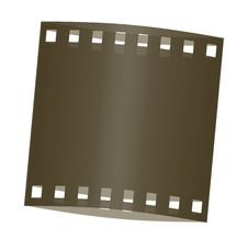 Film Frame Shadowed Stock Image