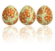Free Floating Easter Eggs Royalty Free Stock Photography - 4516467
