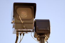 Free CCTV Camera Royalty Free Stock Photo - 4516685