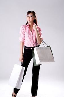 Free Woman Go Shopping Royalty Free Stock Photography - 4517117