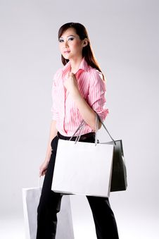 Free Woman Go Shopping Stock Photography - 4517122