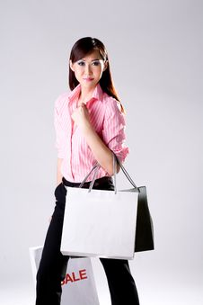 Free Woman Go Shopping Royalty Free Stock Photography - 4517127