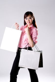 Free Woman Go Shopping Royalty Free Stock Photography - 4517137