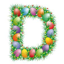 Free Easter Letter D Stock Photography - 4517502