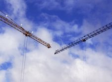 Free Two Tower Cranes Royalty Free Stock Photo - 4517685
