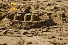 Free Spade & Sandcastle Stock Photos - 4517723