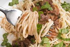 Free Spagheti Bolognese Royalty Free Stock Photography - 4517907