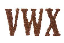 Free Tobacco Letters VWX Stock Images - 4518014