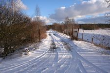 Free Winter Road Stock Photography - 4518692