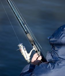 Free Fishing In A Lake Royalty Free Stock Photo - 4519935