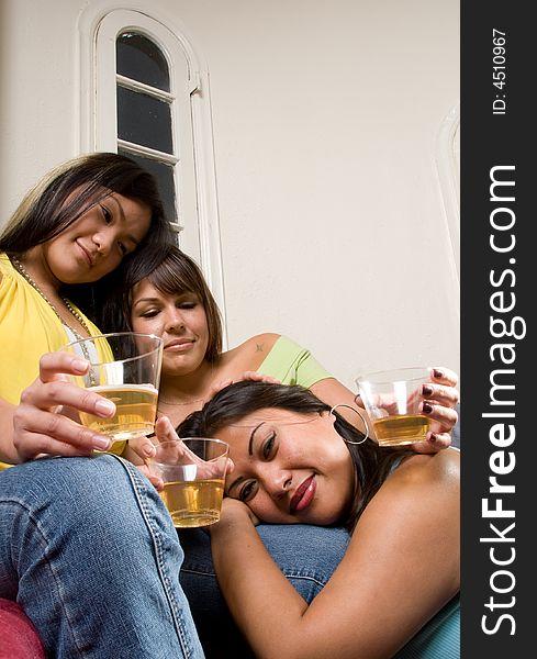 Happy drinking friends - People Series