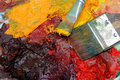Free Artists Oil Painting Palette Stock Photography - 4520552