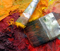 Free Artists Oil Painting Palette Royalty Free Stock Photo - 4520585