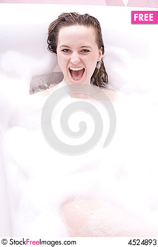 Free Woman In The Bathroom Stock Photos - 4524893