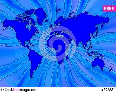 Free World Map Stock Image - 4528681