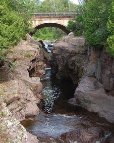 River Bridge In Summer Stock Images