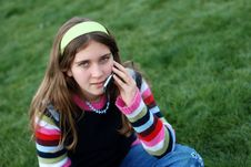 Free Young Girl And Cellphone Royalty Free Stock Photo - 4520135
