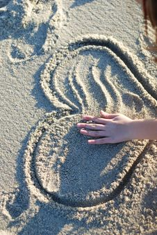 Free Heart On The Beach Stock Photo - 4520140