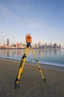 Free Theodolite Set In Downtown Chicago Stock Images - 4520214