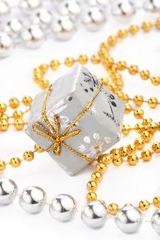 Silver Christmas Toys Stock Photo