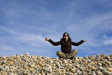 Free Young Woman In Lotus Pose Stock Photography - 4520362