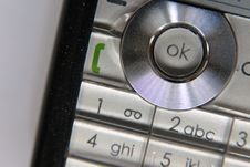 Mobile Phone. OK Button Royalty Free Stock Images
