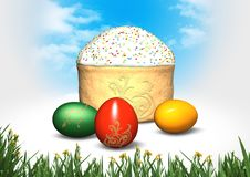 Free Festive Easter Cake And Eggs Royalty Free Stock Photography - 4520767