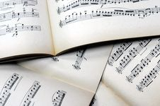 Free Music Notes Background Royalty Free Stock Images - 4520799