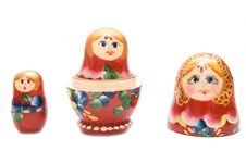 Free Russian Three Matreshka Stock Image - 4521461