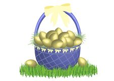 Free Easter Basket Gold 2 Stock Images - 4522444
