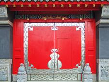 Free Red Gate Of A Temple Stock Photography - 4522482