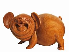 Free Happy Wood Pig Stock Images - 4523014