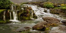 Free Evening Panorama Of A Falls In Mountains Royalty Free Stock Photography - 4523217