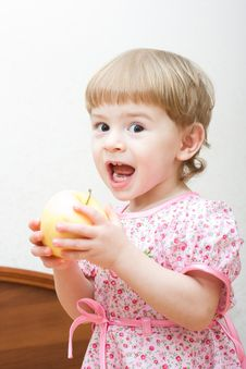 Free Girl With Apple Stock Photos - 4523553