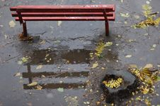 Free Autumnal Bench. Royalty Free Stock Photos - 4523668