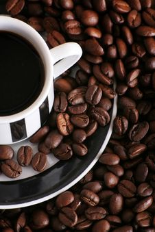 Free Coffee In A Cup Stock Photos - 4524063