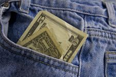 Free Money In Pocket Stock Image - 4524181