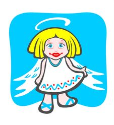 Free Cheerful Angel Royalty Free Stock Images - 4524429