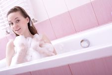 Free Woman In The Bathroom Stock Photography - 4524822