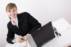 Free Woman Working On The Laptop Stock Image - 4525041