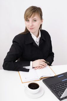 Free Woman Working On The Laptop Stock Photography - 4525182