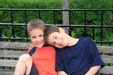 Free Brothers Smiling Stock Images - 4525264