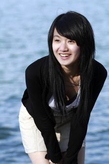 Free An Oriental Girl Stock Photography - 4526802